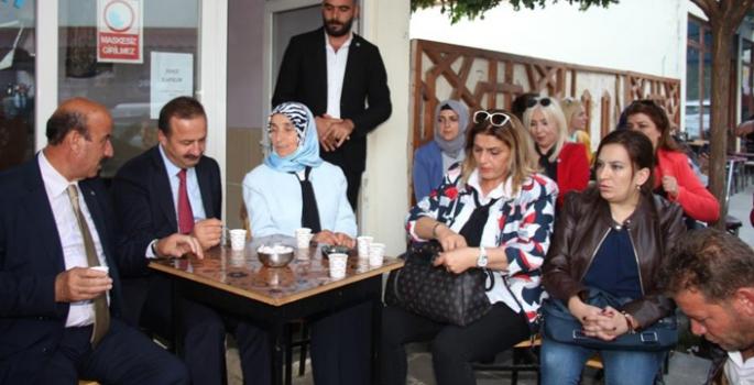 Ağıralioğlu, Erzurum'da esnafı dinledi