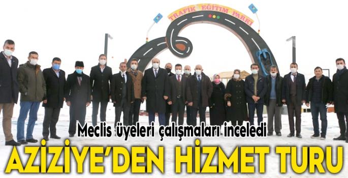 Aziziye'de meclis üyelerine hizmet turu
