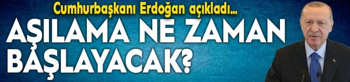 Cumhurbaşkanı Erdoğan korona virüs aşısının başlayacağı tarihi açıkladı