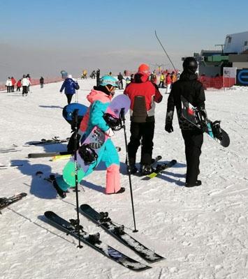 Erzurum'a kayak yapmaya geldiler