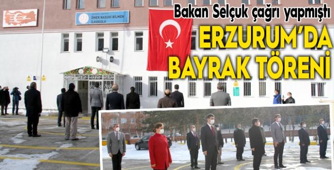 Erzurum'da bayrak töreni