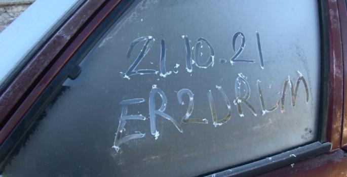 Erzurum'da termometreler eksi 5'e düştü