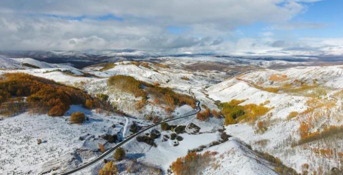 Erzurum dağlarında görsel şölen