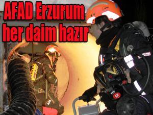 AFAD Erzurum her daim hazır