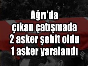 AĞRI'DA PKK'LI TERÖRİSTLERLE ÇIKAN ÇATIŞMADA 2 ASKER ŞEHİT OLDU, 1 ASKER YARALANDI