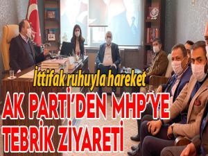 AK Parti'den MHP İl Başkanı Karataş'a tebrik ziyareti