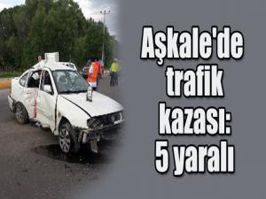 Aşkale'de feci kaza: 5 yaralı