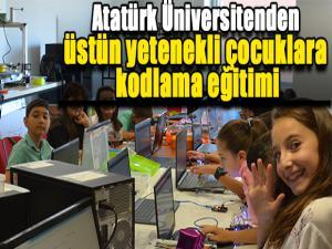 Atatürk Üniversitenden üstün yetenekli çocuklara kodlama eğitimi