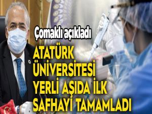 Atatürk Üniversitesi yerli aşıda ilk safhayı tamamladı