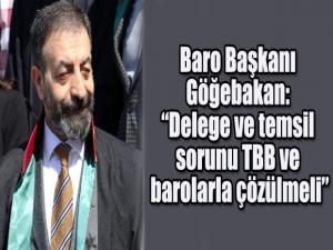 """Baro Başkanı Göğebakan: """"Delege ve temsil sorunu TBB ve barolarla çözülmeli"""""""