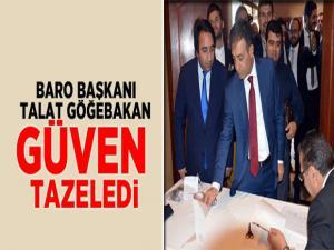 Baro Başkanı Talat Göğebakan güven tazeledi