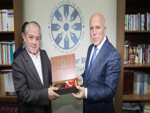 Başkan Sekmen, TYB Erzurum Şubesi'nin konuğu oldu