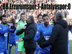 BB Erzurumspor: 1 - Antalyaspor: 0 (Maç sonucu)