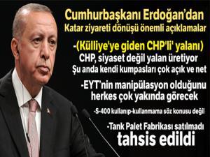 Cumhurbaşkanı Erdoğan:'CHP, siyaset değil yalan üretiyor'