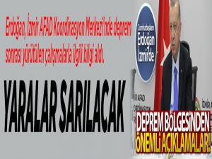 Cumhurbaşkanı Erdoğan'dan deprem bölgesinde önemli açıklamalar!