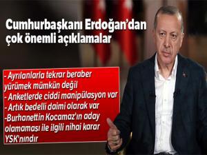 Cumhurbaşkanı Recep Tayyip Erdoğan: 'Anketlerde ciddi manipülasyon var'