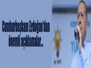 Cumhurbaşkanı Recep Tayyip Erdoğan, Mevlana Meydanı'nda toplu açılış töreninde konuşuyor...