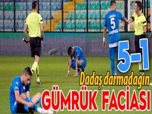 Dadaş İstanbul'da dağıldı: 5-1