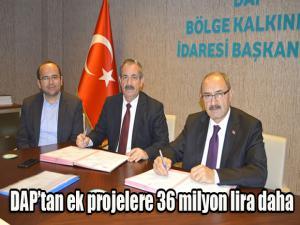DAP'tan ek projelere 36 milyon lira daha