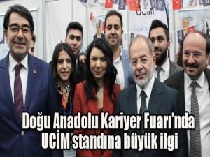 Doğu Anadolu Kariyer Fuarı'nda UCİM standına büyük ilgi