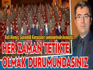 Erzurum'da 'Güvenlik Korucuları Hizmet İçi Eğitim' programı düzenlendi