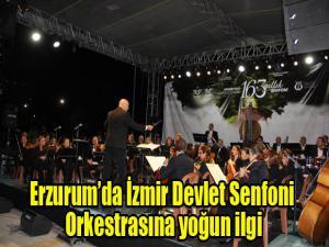 Erzurum'da İzmir Devlet Senfoni Orkestrasına yoğun ilgi