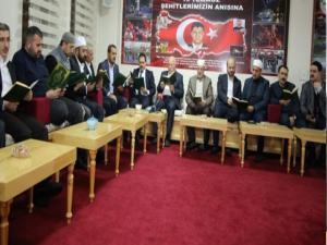 Erzurum Din Görevlileri Derneği'nden İdlip şehitlerine hatim ve dua programı