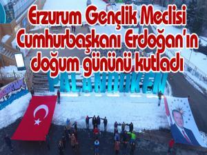Erzurum Gençlik Meclisi Cumhurbaşkanı Erdoğan'ın doğum gününü kutladı