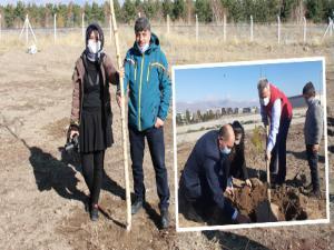 Erzurum GSİM bin fidan dikti