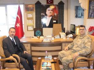 Erzurum İl Jandarma Komutanı Gemalmaz, Kültür ve Turizm İl Müdürü Almaz'ı ziyaret etti