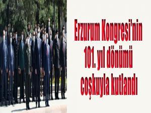 Erzurum Kongresi'nin 101. yıl dönümü coşkuyla kutlandı
