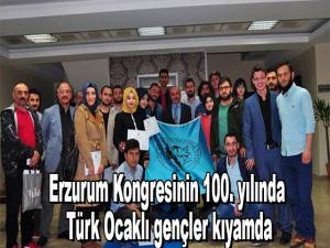 Erzurum Kongresinin 100. yılında Türk Ocaklı gençler kıyamda