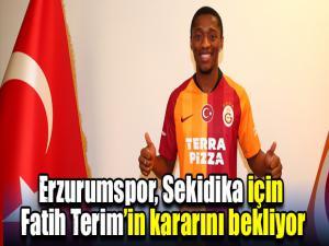 Erzurumspor, Sekidika için Fatih Terim'in kararını bekliyor