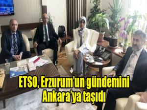 ETSO, Erzurum'un gündemini Ankara'ya taşıdı