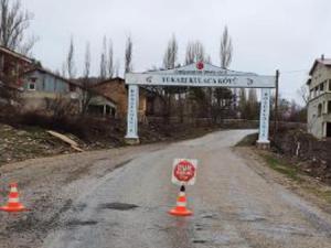 Gümüşhane'de bir köye Korana virüs karantinası
