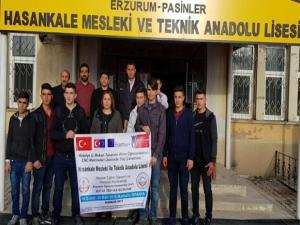 Hasankale MTAL 2018 Erasmus Öğrenci Hareketliliği Projesi tamamlandı