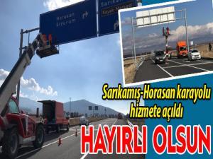 Horasan-Sarıkamış karayolu hizmete açıldı