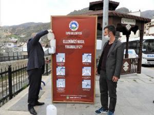 İspir'de dezenfekte üniteleri halkın hizmetinde