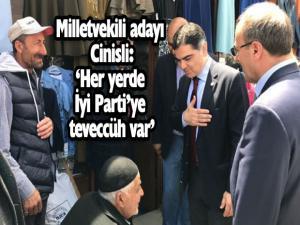 İyi Parti Milletvekili adayı Cinisli güney ilçelerinde