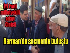 İyi Parti milletvekili adayı Cinisli Narman'da seçmenle buluştu