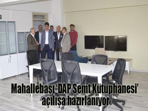 Mahallebaşı 'DAP Semt Kütüphanesi' açılışa hazırlanıyor