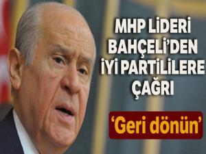 MHP Lideri Bahçeli, İYİ Parti kurultayı için çağrıda bulundu