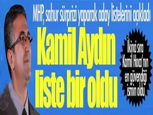 MHP'nin adayları belli oldu... Kamil Aydın liste başı...