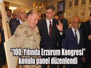 """Milli Mücadelenin 100. Yıl dönümü etkinlikleri kapsamında Erzurum Barosu ve Atatürk Üniversitesi işbirliğinde """"100. Yılında Erzurum Kongresi"""" konulu panel düzenlendi."""