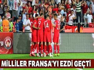 Milliler son dünya şampiyonu Fransa'yı ezdi geçti : Türkiye 2-0 Fransa