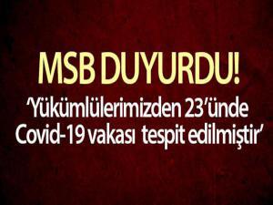MSB: 'Burdur'da birliğine yeni katılan yükümlülerimizden 23'ünde Covid-19 vakası tespit edilmiştir'