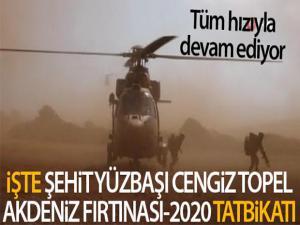 MSB Şehit Yüzbaşı Cengiz Topel Akdeniz Fırtınası-2020 Tatbikatı'ndan görüntüler paylaştı