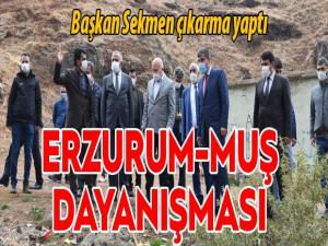 Muş ve Erzurum belediyelerinden örnek dayanışma