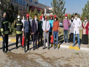 Oltu Devlet Hastanesi'nde yangın tatbikatı