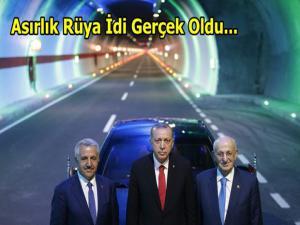 Ovit Tüneli Cumhurbaşkanı Tayyip Erdoğan tarafından açıldı